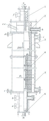 合成氨合成塔结构图